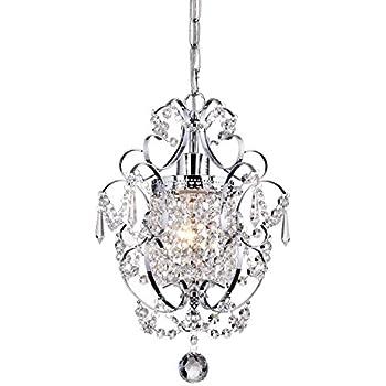 Crystal mini chandelier lighting 1 light chrome chandeliers iron crystal mini chandelier lighting 1 light chrome chandeliers iron ceiling light fixture 17011 mozeypictures Images