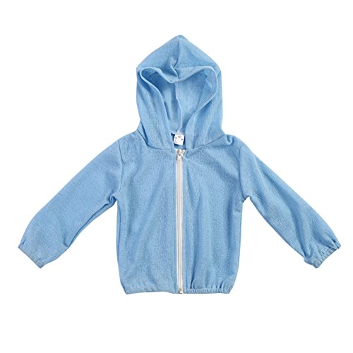 - Diamondo Children Kids Boys Girls Windproof Solid Color Coat Flax Sunscreen Coat (5-6Y)