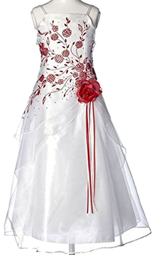 BNY Corner Triple Layered Organza Dress For Big Girl Red 12 HC1110W