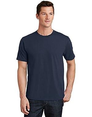 Port & Company Men's 100% Ring Spun Cotton Fan Favorite Tee-Deep Navy-Medium