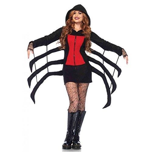 Leg Avenue Women's Black Widow Cozy, Black/Red, (Spider Halloween Costume)