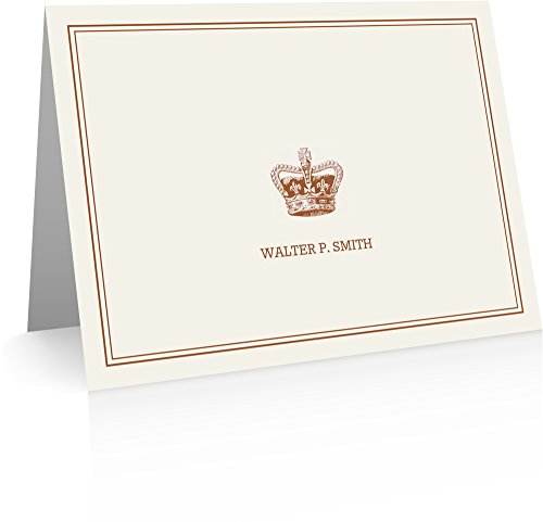 Gifts - Crown Stationery (24 Cards and Envelopes) Personalized (Crown Stationery)