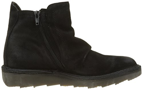 Fly London Adit951fly, Botas Desert Para Mujer Negro (Black)