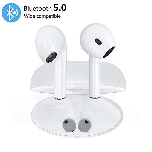 Helose Wireless Earbuds,I9 TWS Bluetooth 5.0 Wireless In-Ear Earphones with Portable Charging Case, Portable Bluetooth Earphones White (Bluetooth 5.0)