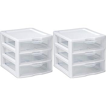Organizer Mini 3 Drawer Wht Sm (pack of 2)