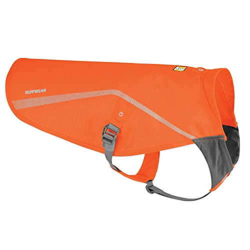 Ruffwear - Track Jacket, High Visibility Reflective Jacket for Dogs, Blaze Orange, Small/Medium