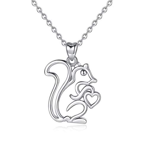 AEONSLOVE Necklaces, 925 Sterling Silver Lovely Dog Cat Owl Dolphin Pendant Necklace, 18