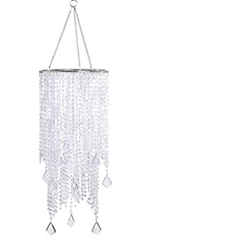 Flavorthings 2 tiers 205 tall clear beaded hanging chandelier flavorthings 2 tiers 205 tall clear beaded hanging chandeliergreat idea for wedding chandeliers aloadofball Choice Image