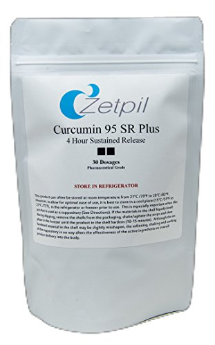 Zetpil Curcumin 95 SR Plus 4 Hour Sustained Release Suppositories, 30 Count by Zetpil (Image #2)