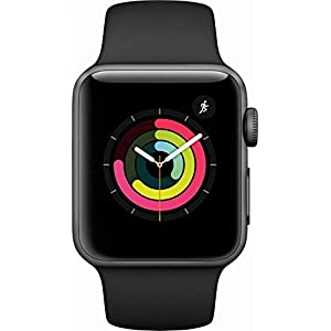 Apple Watch Series 3 42mm Smartwatch (GPS + Cellular, Gold Aluminum Case, Pink Sand Sport Loop Band) (Renewed)