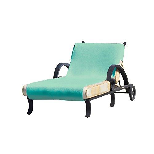Linum Home Textiles CL45-SNP Standard Size Chaise Lounge Cover - Aqua by Linum Home Textiles