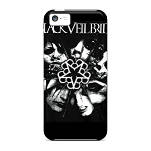 Durable Protector Case Cover With Black Veil Brides Hot Design For Iphone 5c