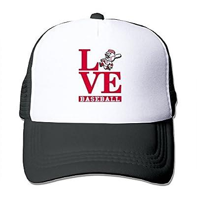 MZONE Adult Two-toned Visor Cap Love Cincinnati Baseball Hip Hop Caps Black
