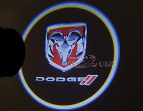 2 X Black 5th Gen car door Shadow laser projector logo LED light for dodge all series challenger viper charger ram 1500 2500 3500 dart diesel power wagon sprinter dakota Nitro ()