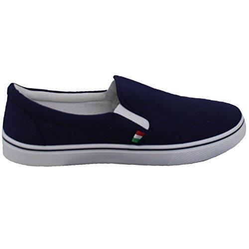 D555 Chaussures Homme Duke King Size Bateau Toile Chaussures à Enfiler Aldrich Décontracté Neuf MARINE - ksaldrich hukJr