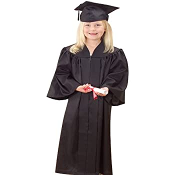 Amazon.com: Kids Graduation Gown - up to 8 years (Black): Clothing