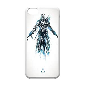 Assassin 002 iPhone caja del teléfono celular 5c funda blanca del teléfono celular Funda Cubierta EOKXLKNBC08876