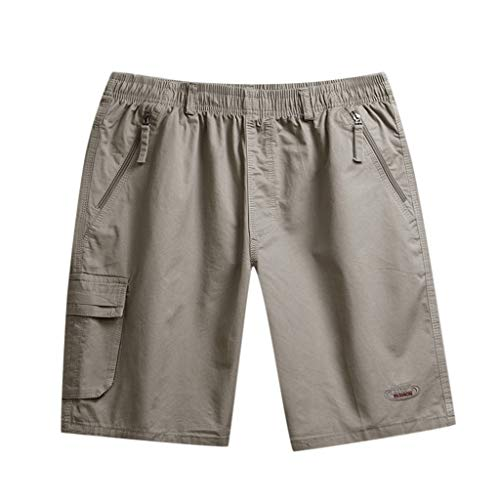 Hawaiian Summer Men's Shorts Classic Fit Swim Khaki