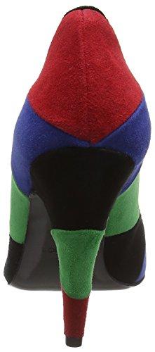 99A Tacón multicolore Multicolor Zapatos Cam de lina100 mujer Multicolor MoschinoScarpad qARw7Za
