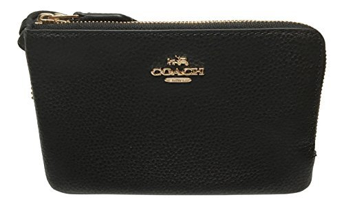 COACH Boom 02 Pebbled Leather Double Corner Zip