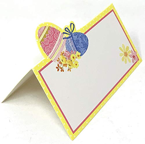 Die Cut Easter Egg Table - Northeast Home Goods Easter Holiday Die Cut Tented Place Cards Dinner Table Decorations 20-Pack (Easter Eggs)