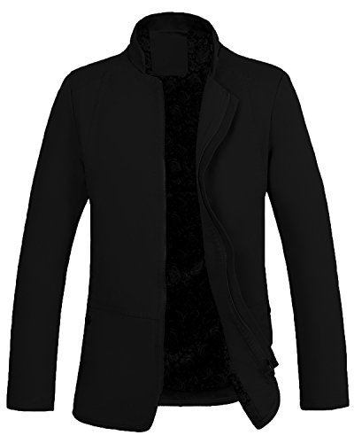 Lende Men's Leisure Cotton Jacket Zipper Coat (Leisure Suits For Sale)
