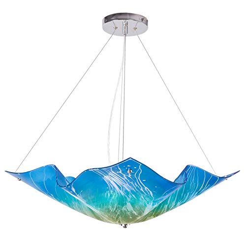 Teal Blue Pendant Light in US - 2