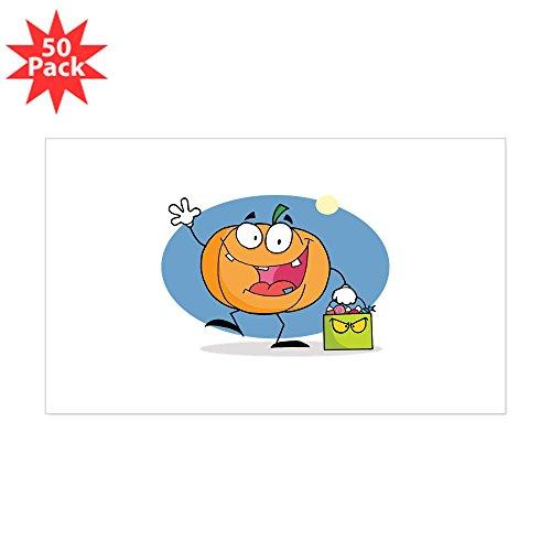 CafePress - Pumpkin - Sticker (Rectangle 50 pk)