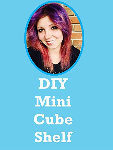 Popsicle Stick Crafts: DIY Mini Floating Cube Shelf: Room Decor