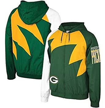 Amazon.com : Mitchell & Ness NFL Shark Tooth Jacket_Green