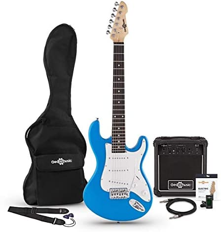 Set de Guitarra Electrica LA 3/4 + Amplificador Blue: Amazon.es ...