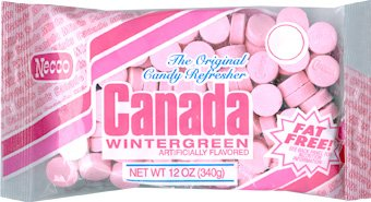 2 PACK – Necco Canada Mints – Wintergreen 12oz.