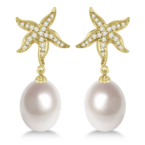 ladies-diamond-starfish-and-paspaley-south-sea-cultured-drop-pearl-earrings-18k-yellow-gold-11mm
