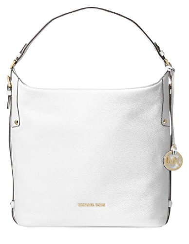MICHAEL Michael Kors Bedford Belted Leather Shoulder Bag, Optic White by Michael Kors