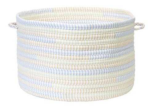 Colonial Mills Ticking Stripe Utility Basket, 18 by 12-Inch, Starlight