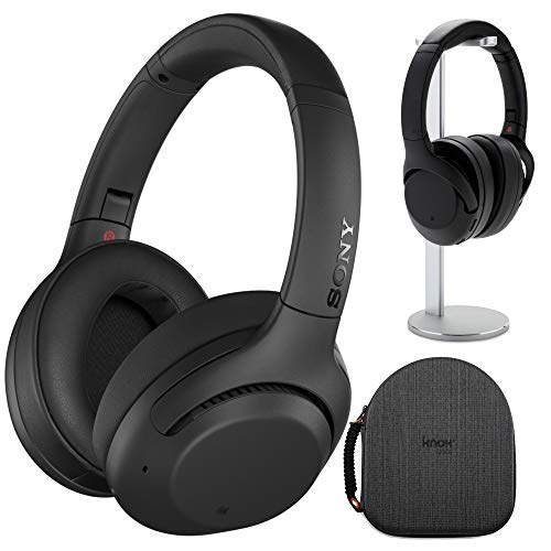 Sony WH-XB900N Extra BASS Wireless Noise Cancelling Headphones (Black) with Hardshell Headphone...
