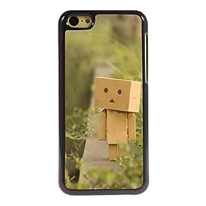 QJM Wooden Man Pattern Aluminum Hard Case for iPhone 5C , Blue