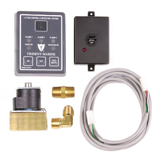 - Trident Marine 1300-7762-Kit 12VDC L.P. Gas Control & Detection System Kit, 1/4