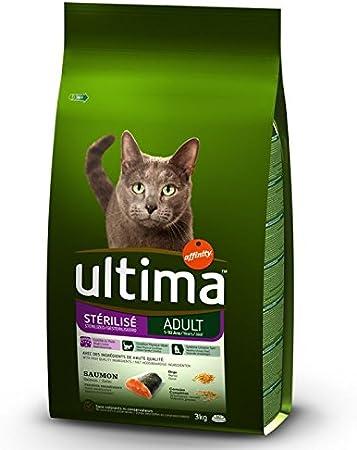 Ultima - Esterilizado para adulto - Salmón & Barley 7,5 kg Un alimento saludable para gatos: Amazon.es: Productos para mascotas