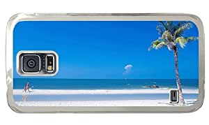 Hipster carry Samsung Galaxy S5 Cases Beach Summer Ocean PC Transparent for Samsung S5