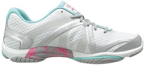 Ryka Womens Invloed Cross Training Schoen Invloed / Wit / Aqua / Roze