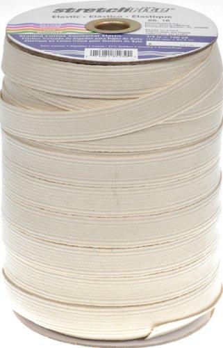 Stretchrite 3/4 by 100-Yard Natural Braided Swimwear Cotton Elastic Spool 1PSS7665NAT