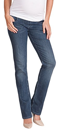 Seraphine Andi Straight Leg Under Bump Maternity Jeans - Vintage Blue - 4