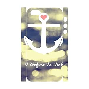 I Refuse to Sink DIY 3D Case for Iphone 5,5S, 3D Custom I Refuse to Sink Case