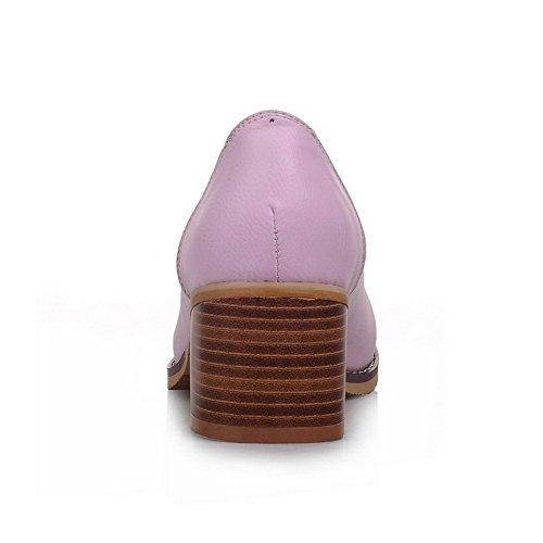 Carré Enfiler Matière EU Talons Shoes À Femme 5 APL01286 Violet Souple Pumps 41 BalaMasa pour UwExFf44