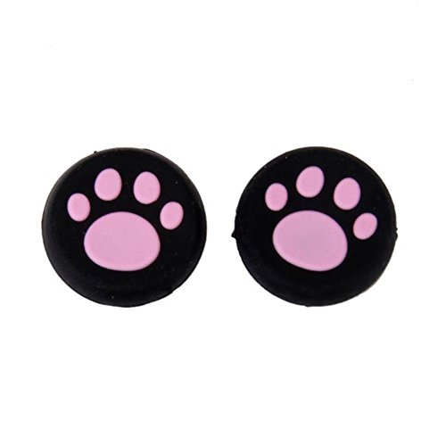 Xindda Rocker Cap for Nintendo, 1 Pairs Cat's Paw Silicone Gel Thumb Grips Caps for Nintendo Switch Controller