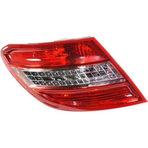 (Garage-Pro Tail Light for MERCEDES BENZ C-CLASS 08-11 LH Lens and Housing LED w/Curve Lightning USA Type)
