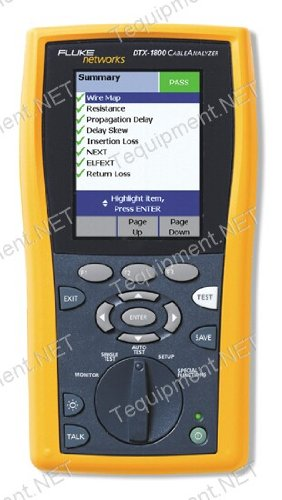 (Fluke Networks DTX-1200-MS 120 Cable Test Set with DTX-1200 Cable Analyzer and DTX-MFM2 Multi-Mode and DTX-SFM2 Single Mode Fiber Modules)