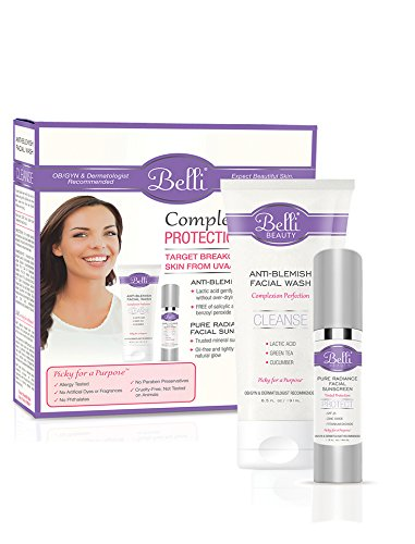 Belli Complexion Protection Duo Target Breakouts And Shield Skin From Uva Uvb Rays With Face Wash 6 5oz And Spf25 Sunscreen 1 5 Oz Ob Gyn And Dermatologist Recommended Buy Online In Cayman Islands