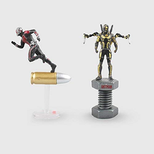 (PAPWELL Set 2 Ant Man Action Figure 2.5 inch Marvel Legends Hot Toys Avengers Infinity War Avenger Ant-man Figures Mini Toy Christmas Halloween Collectibles Collectable Gifts Collectible Gift for)
